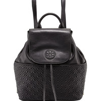 Marion Quilted Leather Backpack, Black - Tory Burch
