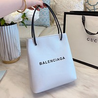 Balenciag Hot sale simple letter print ladies handbag shoulder bag