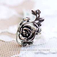 The personalized retro rose Ring palace hollow carved rings [0822] - $0.74 : Favorwe.com Supply all kinds of cheap fasion jewelry