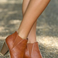 City Streets Booties-Cognac