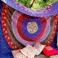 ILH Bohemian Wall Hanging Tapestry Hippie Wall Hanging Bedspread Beach Towel Mat Blanket Table Cloth decoration free shipping