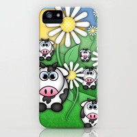 Cows & Daisies  iPhone Case by Digi Treats 2  | Society6