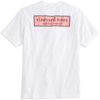 Vineyard Vines Rectangle Logo Graphic Short Sleeve T-Shirt