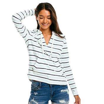 Paiton Multi-Striped Hoodie by Southern Tide