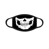 Skull Black Face Mask