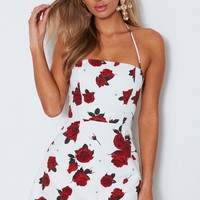 Eyes On You Dress Scarlet Rose White