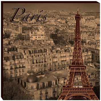 The Eiffel Canvas Wall Art (1081) - Illuminada