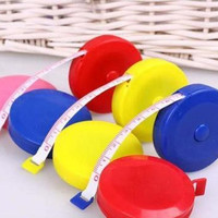 1.5M 60inch Mini Retractable Tape Ruler Measure Sewing Cloth Dieting Tailor Hot