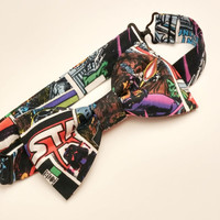 Star Wars Bow Tie • Pre-Tied Bow Tie • Comic Book Bow Tie • Geekery Mens Fashion • Sci-Fi Film Bowtie• Star Wars Accessories •Gifts For Guys
