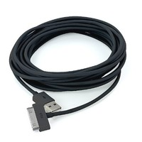 2x 10FT 3M USB Data Sync Cable Charging Cord For iPhone4 3GS 4G 4S ad2 iPad3 Black
