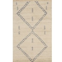 Ivory Transitional Moroccan Rug