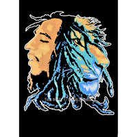 Bob Marley Tiger Face Tapestry Wall Hanging, Rasta Reggae Tapestry Bedspread on RoyalFurnish.com