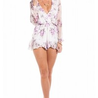 Mi Vida Loca playsuit in lilac floral | SHOWPO Fashion Online Shopping