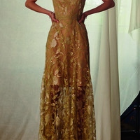 Sleeveless Sequin Tulle Midi Dress | Moda Operandi