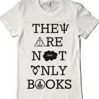 They Are Not Only Books-Female White T-Shirt