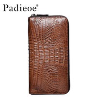 Luxury brand wallet Casual men's wallet genuine leather men wallet real crocodile leather homemade handbag for men