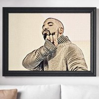 Poster Drake Art Painting Print Canvas Print Music