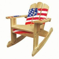 Lohasrus Kids Rocking Chair in Natural Stars and Stripes - MM20631 - Baby & Kids' Furniture - Furniture