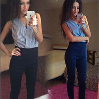 2016 New Summer Sleeveless Rompers Womens Jumpsuit Bodycon Playsuit Ladies Overalls Sexy Plus Size Bodysuit