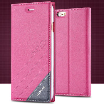 Apple iPhone 5/5S PU Leather Magnetic Flip Mobile Phone Case