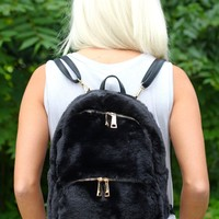 All Faux Fur Backpack