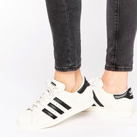 Adidas | adidas Originals Faux Snake White And Black Superstar Sneakers at ASOS