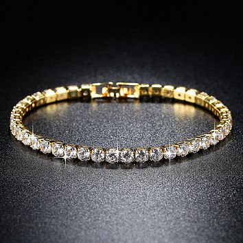 Fashion Accessories and Jewelry Gold Silver Tennis Bracelet
