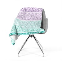 "Pom Graphic Design ""Riverside Pebbles Colored"" Purple Teal Fleece Throw Blanket"
