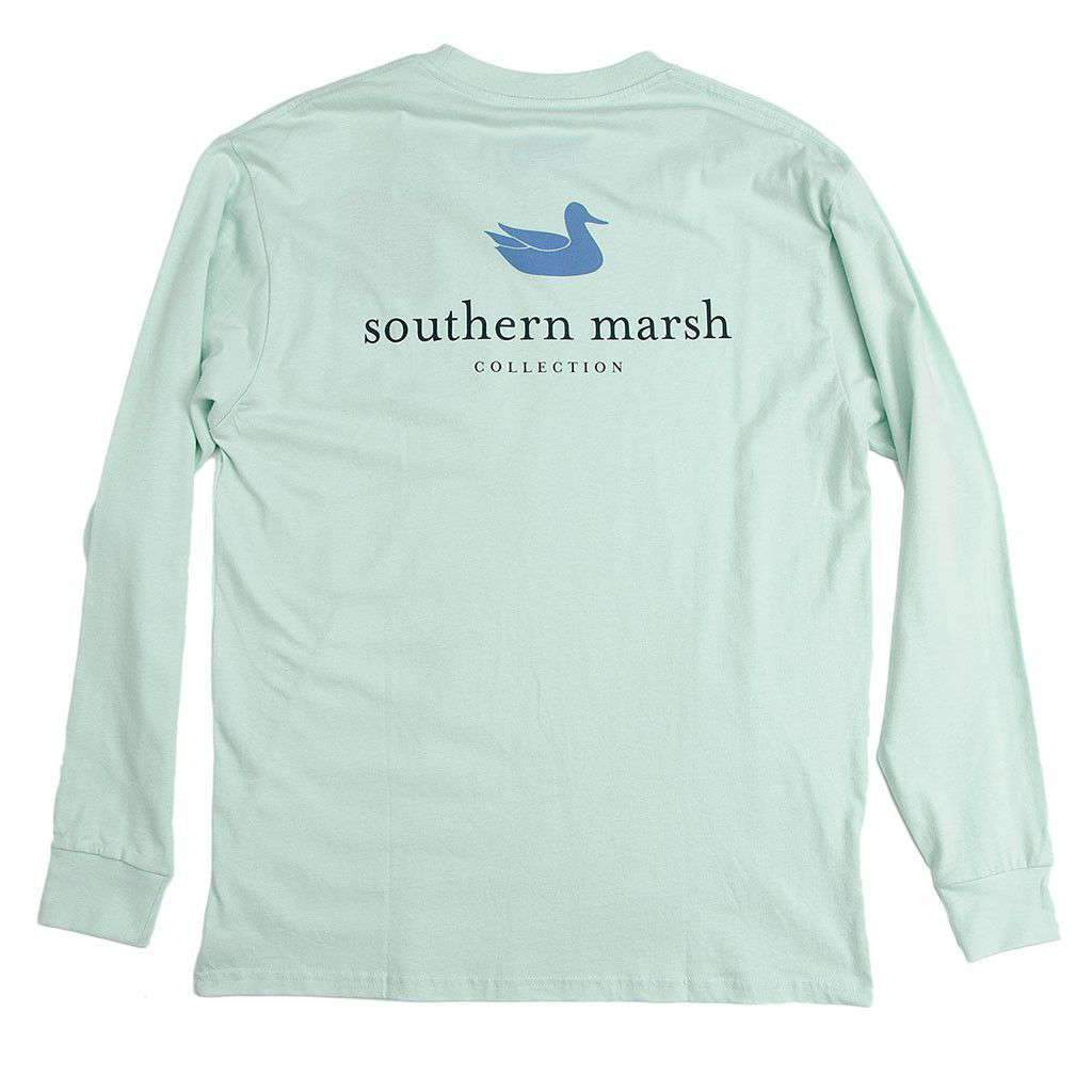 Image of Authentic Long Sleeve Tee in Ocean Green by Southern Marsh