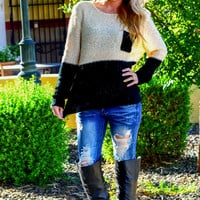 GET YOUR SHINE ON SWEATER IN BLACK