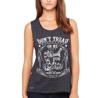 """Zexpa Apparelâ""""¢ Don't Tread On Me Women's Muscle Tee 1776 Liberty Or Death Political Tanks"""