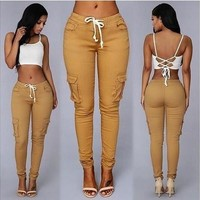 New Sexy Women Denim Skinny Pants High Waist Stretch Jeans Slim Pencil Trousers [9305642887]