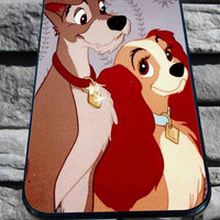 Lady And The Tramp for iPhone 4/4s, iPhone 5/5S/5C/6, Samsung S3/S4/S5 Unique Case *76*