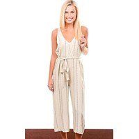 Ivory Perfect Cropped Jumpsuit
