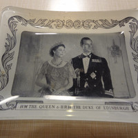 Queen Elizabeth II and the Duke of Edinburgh 1947 Engagement Tray