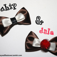 Mini Chip and Dale Hair Bow Set