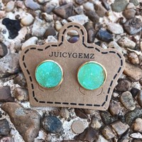 12mm Mint Green Drusy Rounds