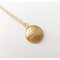 Vintage Repurposed Gold Gucci Button Necklace
