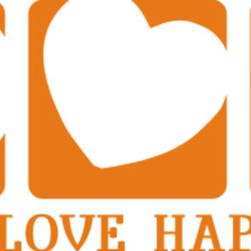 Peace - Love - Happiness Decal