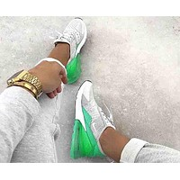 Nike Air Max 270 Popular Women Personality White/Green Color Matching Sport Running Shoes Sneakers I/A