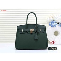 "Wearwinds ""Hermes"" ladies fashion simple casual top layer leather lychee pattern shoulder bag Green"