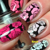 2017 New Arrival Hot sales 1sheet Reusable Nail Art Hollow Template Stickers Stamp Stencil Guide nails stickers SASTZK13