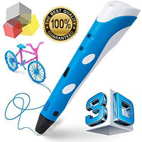 Manve Intelligent 3D Printing Pen, 3D Drawing and Doodle Model Making Arts & Crafts Drawing , ABS Fibrous Material and Power Supply , Promote Children's Brain Development , Most Suitable DIY Gift