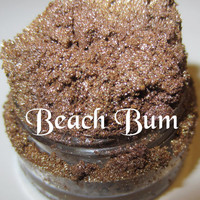 NEW Beach Bum Sandy Taupe Gold Shimmer Mineral Eyeshadow Mica Pigment 5 Grams Lumikki Cosmetics