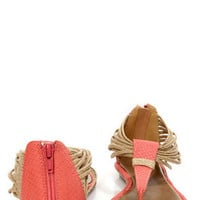 GoMax Kitty Corner 08 Coral Ankle Cuff Thong Sandals
