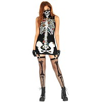 Skeleton Garter Dress With Flo