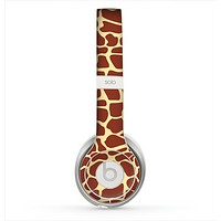 The Simple Vector Giraffe Print Skin for the Beats by Dre Solo 2 Headphones