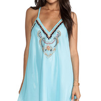 6 SHORE ROAD On the Rocks Dress in Turquoise