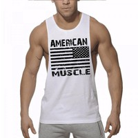 Muscle guys men sleeveless t shirts Summer Cotton Men Tank Tops gyms Clothing Bodybuilding shirt Fitness tops