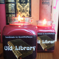 Old Library Candle, Book Soy Candle, Bookish Candle, Soy book candle scented, book related candle, book scent, book inspired, book gift
